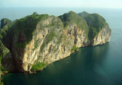 Phi Phi Le island from the air