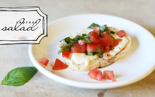 Caprese Salad on bread