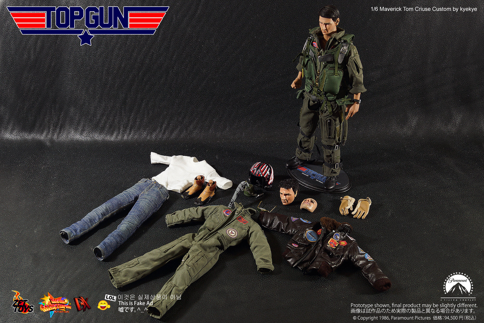 Head And Figure Mods Body Hack 16 Top Gun Tom Cruise Custom