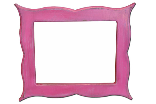 Pink Scallop Frame