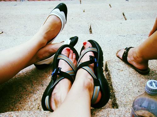 restin' our feet