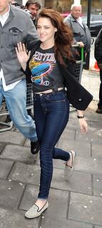 Kristen Stewart Studded Loafers Celebrity Style Women's Fashion