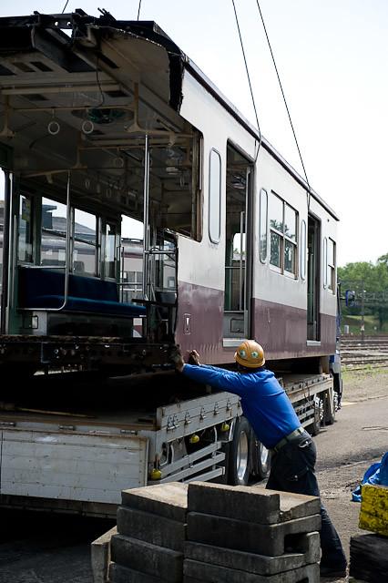秩父鉄道1000系 1002F デハ1002 解体搬出陸送