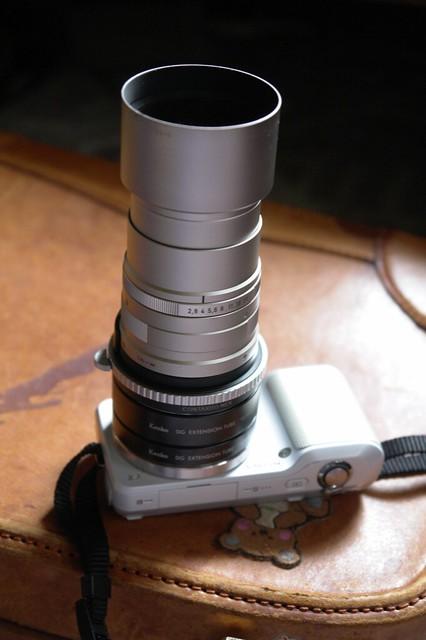 NEX-3 CONTAX G-Sonnar 90mm F2.8 + Kenko EX Tube