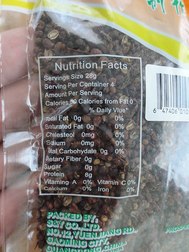 Szechuan peppercorn serving size