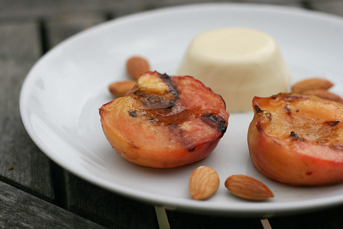 Grilled Peaches with Cardamom Panna Cotta