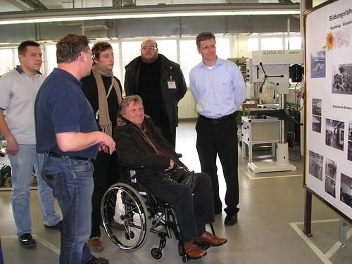 Ilja Seifert zu Besuch bei Bosch