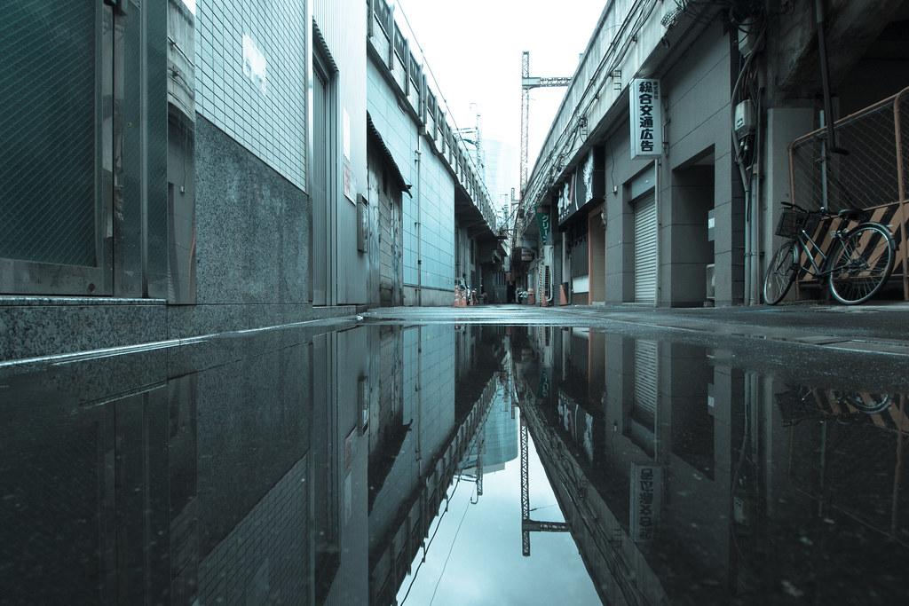 水たまりの反射 2012/06/06 OMD61095