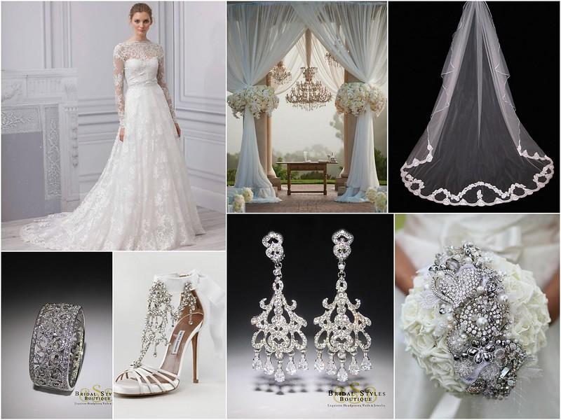 Opulent, Modern White Bridal Style Inspiration