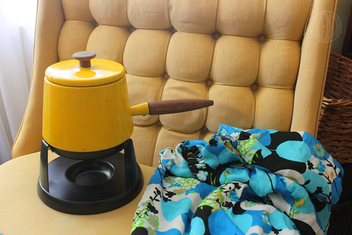 and a fondue pot and mumu for Deb