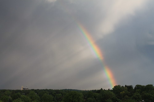 Rainbow and Church of Our Lady by Royal_Rivers