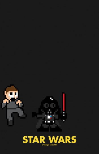 Grandes bilheterias do cinema em 8-Bits Star Wars