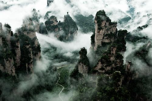 china landscape hunan zhangjiajie