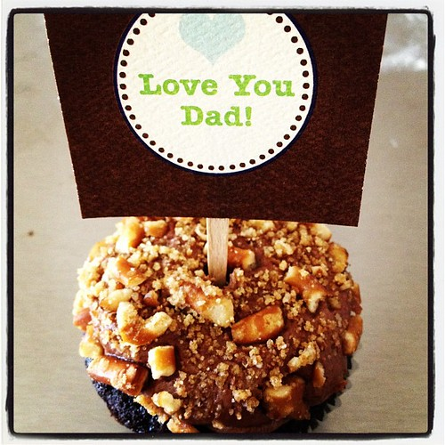 Chocolate stout cupcake with choc stout buttercream & pretzel crunch