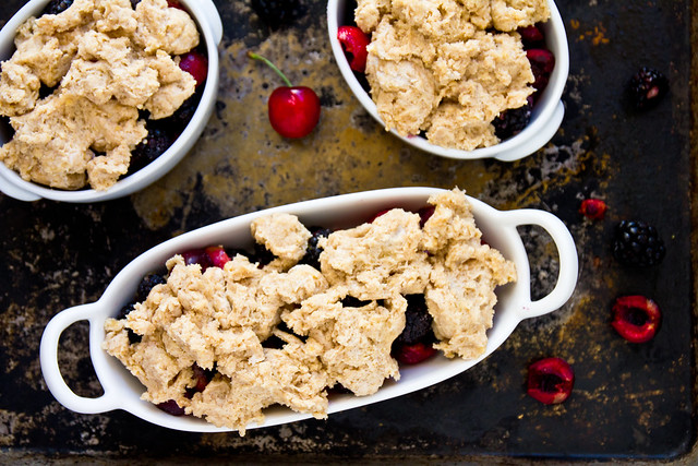 Blackberry Cherry Cobbler