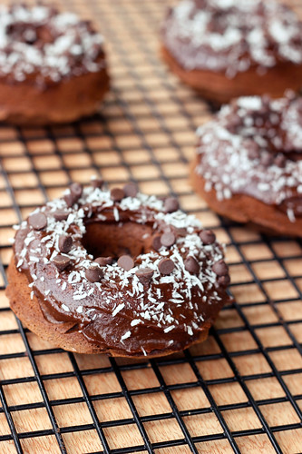 Double Chocolate Donuts with Coconut - Gluten-free, Dairy-free, Refined Sugar-freeG_1463