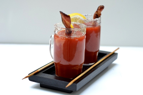 Bacon Swizzle Stick Bloody Mary | Feeding Ethan