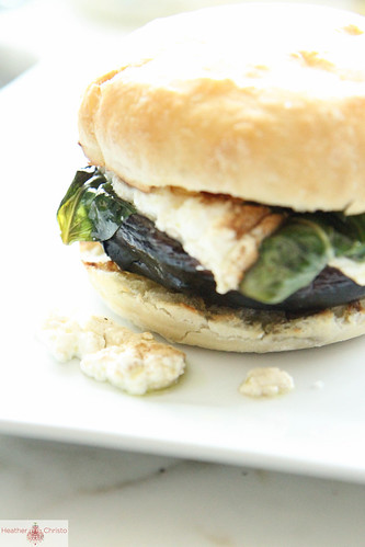 Grilled Potobello Mushroom Burger with Roasted Ricotta ...