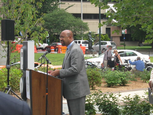 Mayor Nutter speaks at the Greenworks 2012 Progress Report Release Event