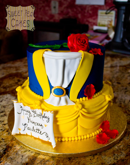 beauty and the beast birthday cake and the beast birthday cake flickr photo 1619