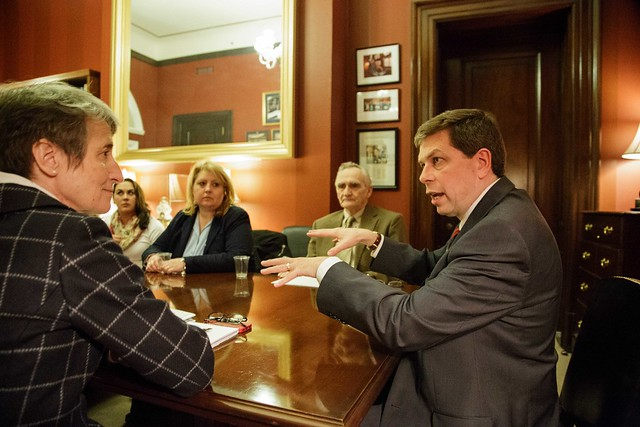 Begich Meets with Sec. Jewell and King Cove Residents