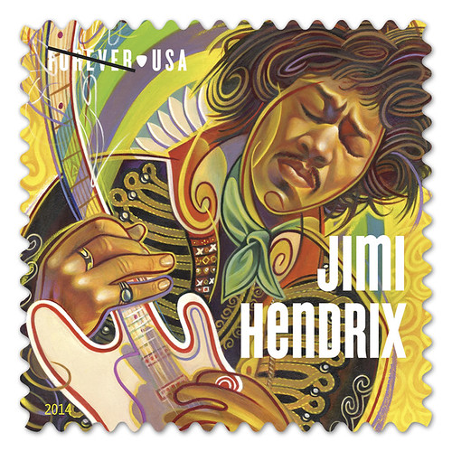 United States Post Office unveils Jimi #Hendrix Postage #stamp - s