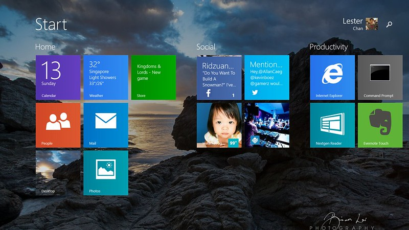 Microsoft Surface 2 - Start Screen