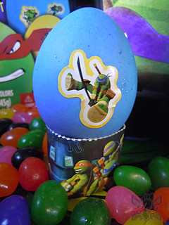 "MasDudley's Easter :: Nickelodeon ""TEENAGE MUTANT NINJA TURTLES"" EASTER EGG DECORATING KIT xii // .. Leo sticker (( 2014 ))"