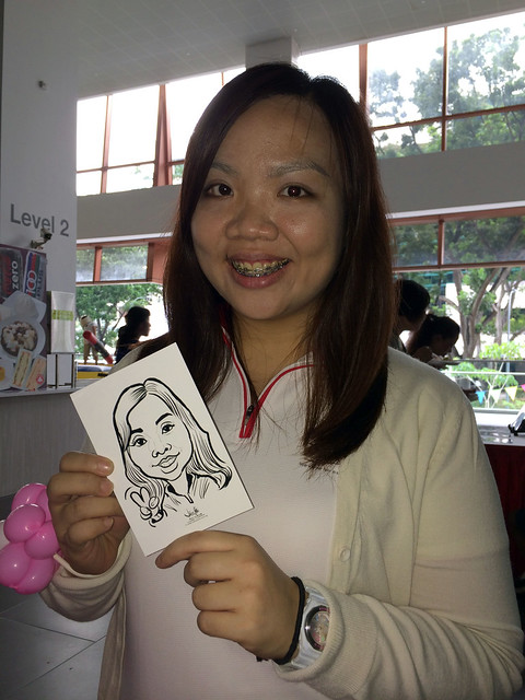 digital live caricature sketching for National Heart Centre Singapore