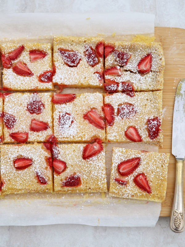 Strawberry Meyer Lemon Bars, completelydelicious.com