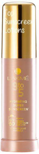 Best Sunscreen Lotion in India #3 - Lakme 9 to 5 Hydrating Super SPF 50 Sunscreen Lotion