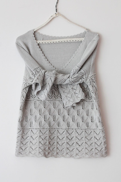 Silver grey lace pullover