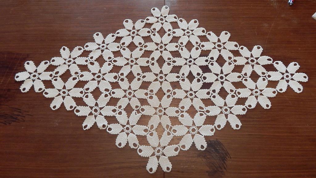 Vintage Crochet Table Cloth Beautify Vintage Crochet Table