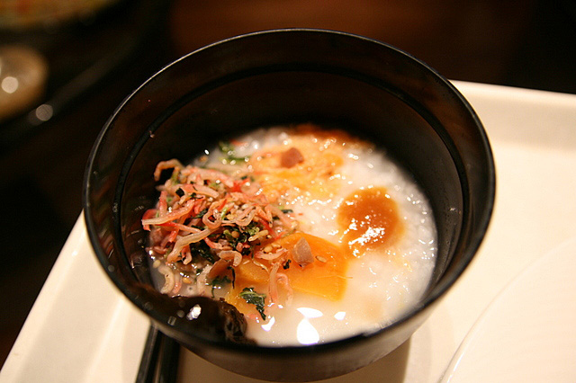 Okayu - porridge with toppings