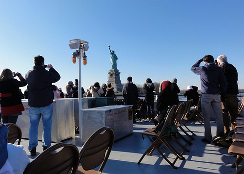 Statue of Liberty from a sightseeing boat