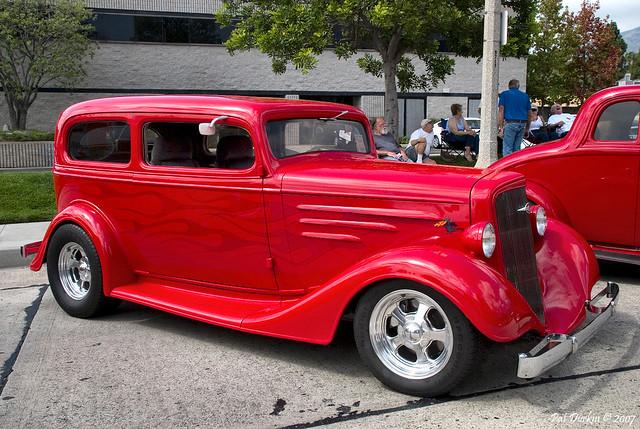 1935 chevrolet standard coach 2 door sedan mod red for 1935 chevy 2 door sedan