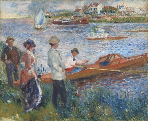 Auguste Renoir - Oarsmen at Chatou [1879] by Gandalf's Gallery