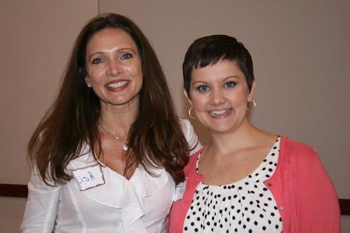Lisa Rosenbaum with CASA Team Leader Tiffeny McNeel