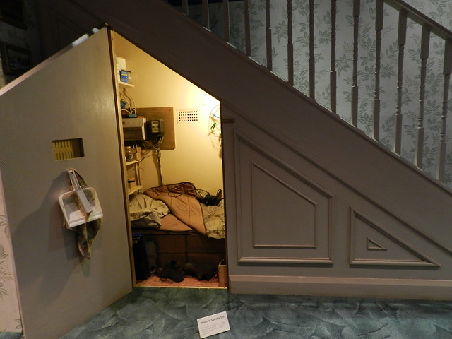 Harry 39 s bedroom under the stairs flickr photo sharing for Bedroom under stairs