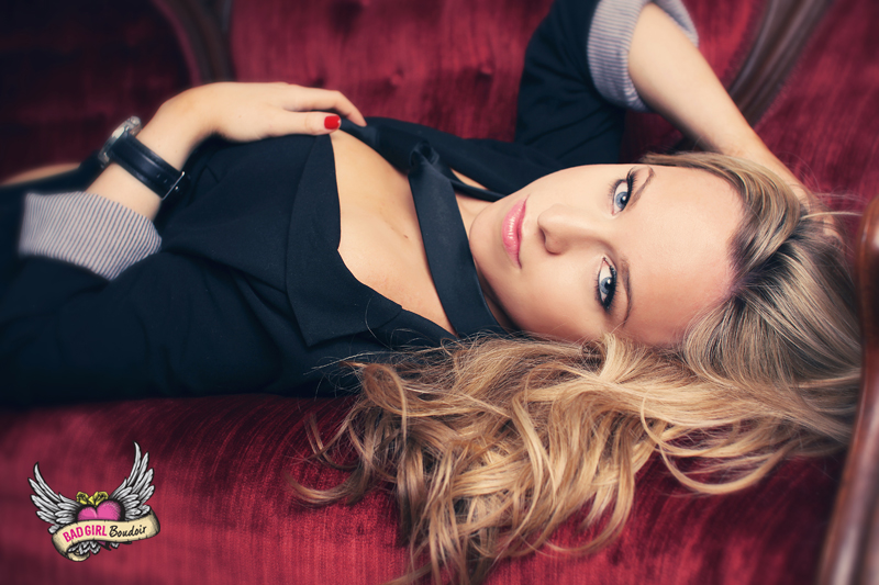 Sexy Men's Suit & Tie Boudoir Photography