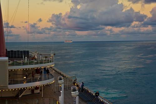 ocean cruise sunrise ship caribbean stmaarten