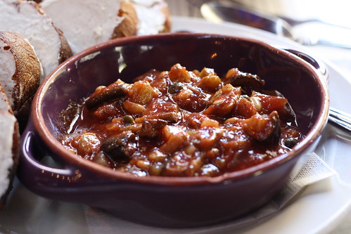 Eggplant Caponata with Goat Cheese