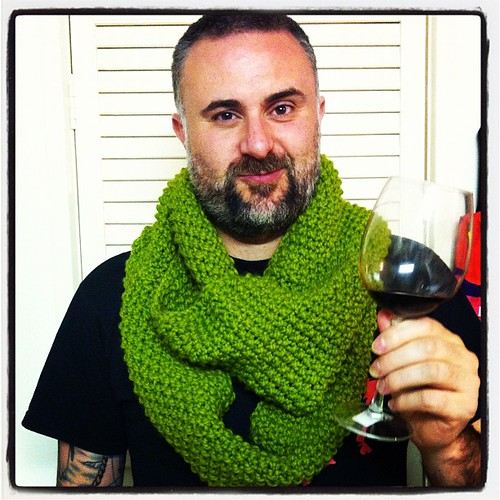My hot husband @elgatogrande modeling my latest knitted creation!