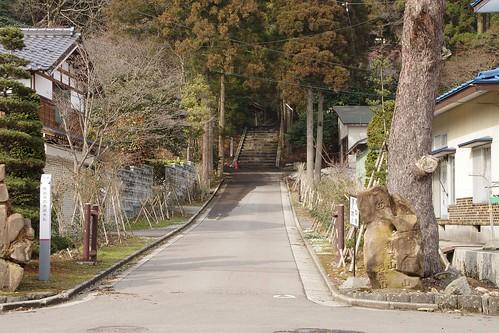 赤田の大仏 参道