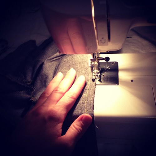 Saturday night sewing for my little man