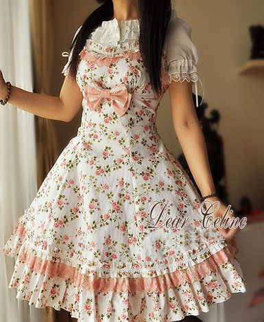 Dear_Celine_Summer_A_Line_Pinkish_Rose_Cotton_Lolita_Dress_7
