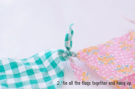 no fuss, no sew triangle bunting