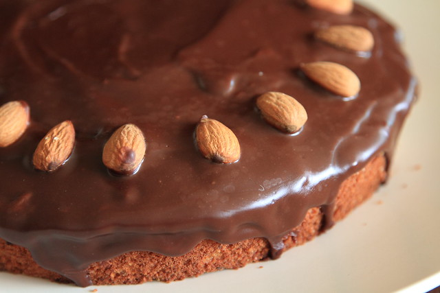 Potato-chocolate-nut cake