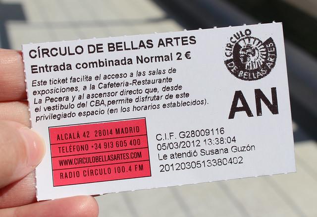 Circulo de Bellas Arts - Mirante - Madri