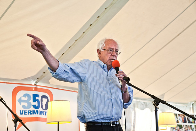 Senator Bernie Sanders Connecting the Dots in Waitsfield, VT with 350 Vermont & Friends